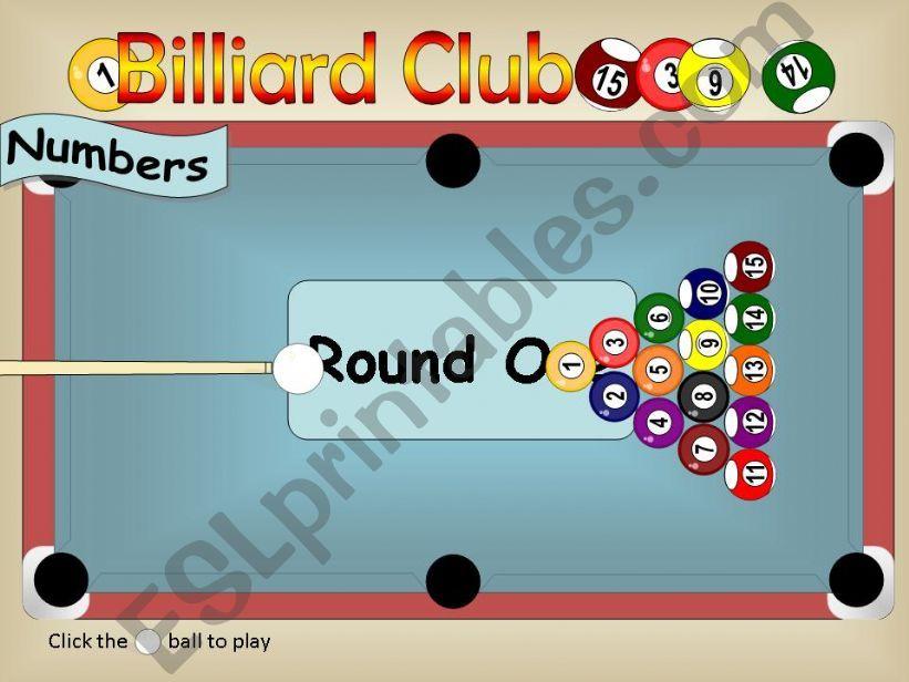 Billiard Club [ Numbers 01-15 ]